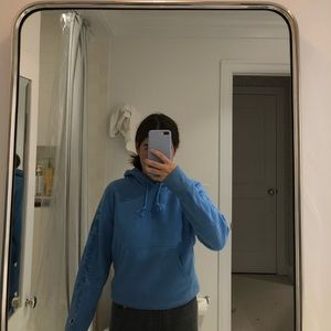 Super cute Blue Champion hoodie